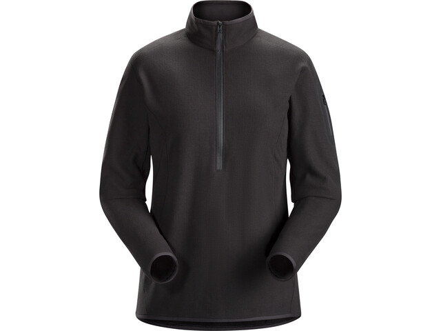 Arc'teryx Delta LT Maglietta baselayer con zip Donna, black